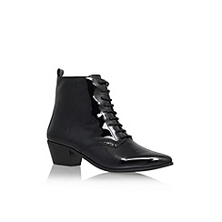 Nine West - Black 'Tersk3' low heel lace up ankle boot