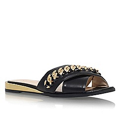 Nine West - Black 'Xray' flat chain detail slip on sandal