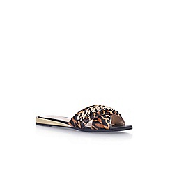 Nine West - Brown 'Xray5' flat flip flop sandal