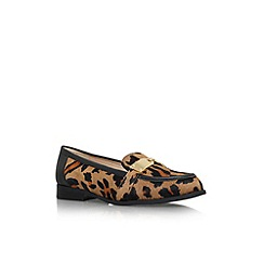 Nine West - Brown 'Townhall5' flat slip on loafer