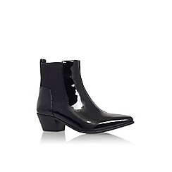 Nine West - Black 'Travers3' low heel ankle boot