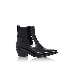 Nine West - Black 'Travers3' low heel ankle boot