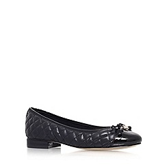 Anne Klein - Black 'Paddy' flat slip on court shoe