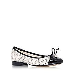 Anne Klein - White/ black 'Paddy' flat slip on court shoe