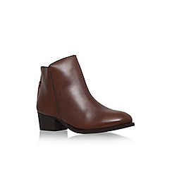 Carvela - Tan 'Trooper' low block heel ankle boot