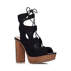 KG Kurt Geiger - Black 'Henna' high heel platform lace up sandal