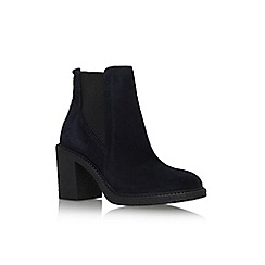 Carvela - Navy 'Spark' mid block heel ankle boot