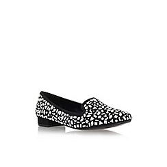 Carvela - Black 'Lord' flat slip on embellished court shoe
