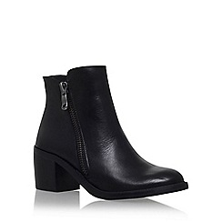 Carvela - Black 'Skim' mid block heel ankle boot