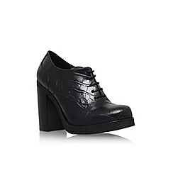 Carvela - Black 'Alfred' high block heel lace up brogue style shoe