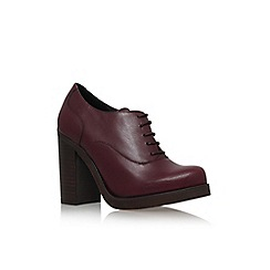 Carvela - Wine 'Alfred' high block heel lace up brogue style shoe