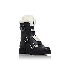 Carvela - Black 'Snow' low heel lined boot with buckles