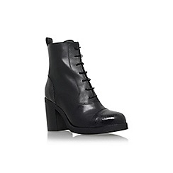 Carvela - Black 'Snap' high block heel lace up ankle boot