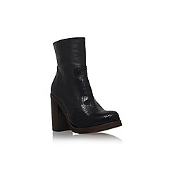 Carvela - Black 'Spirit' high block heel calf high boot