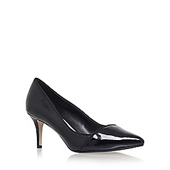 Carvela - Black 'Aura' mid heel court shoe