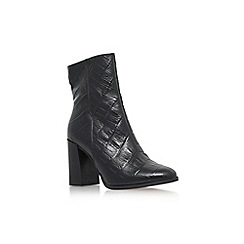 Carvela - Black 'Slither' high block heel calf high boot