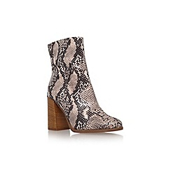 Carvela - Taupe 'Slither' high block heel calf high boot