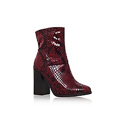 Carvela - Wine 'Slither' high heel boot