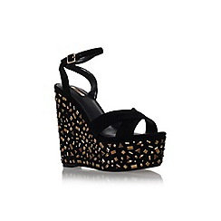Carvela - Blk/other 'Genie' high wedge heel platform embellished sandal