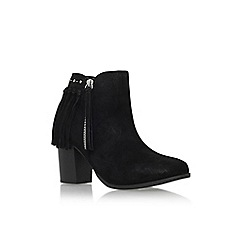 Miss KG - Black 'Shake' high heel ankle boot with zip and tassels
