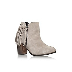Miss KG - Brown 'Shake' high heel ankle boot with zip and tassels