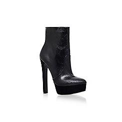 Carvela - Black 'Sizzle' high heel platform ankle boot