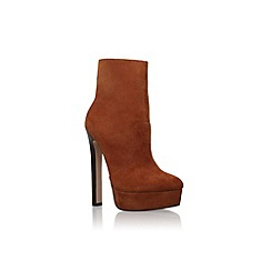 Carvela - Brown 'Sizzle' high heel platform ankle boots
