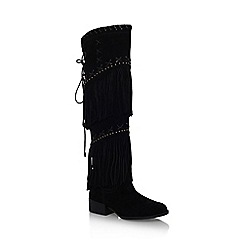 Carvela - Black 'Whip' low heel knee boot