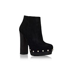 Miss KG - Black 'slade' high block heel platform ankle boot