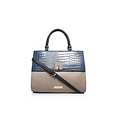 Carvela - Blue 'Fina' lock croc handbag