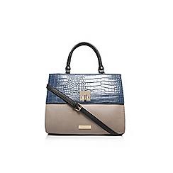 Carvela - Blue 'Fina' lock croc handbag