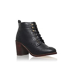 Miss KG - Black 'Seattle' high block heel lace up ankle boot