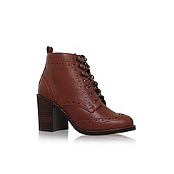Miss KG - Brown 'Seattle' high heel lace up ankle boot