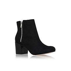 Miss KG - Black/comb 'Sway' high block heel ankle boot