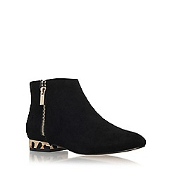 Miss KG - Black 'Soho' low heel ankle boots with zip