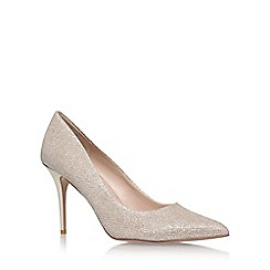Carvela - Gold 'Goalie' high heel court shoes