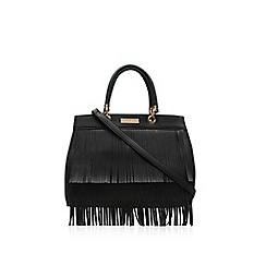 Carvela - Black 'Darla' fringed tote handbag