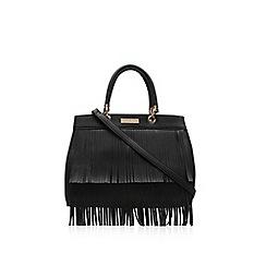 Carvela - Black 'Darla' fringed tote handbag