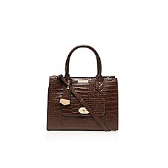 Carvela - Tan 'Freda' lock pocket handbag