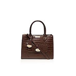 Carvela - Tan 'Freda' lock pocket handbag
