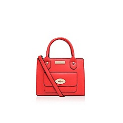 Carvela - Red 'Fini' mini lock pocket handbag