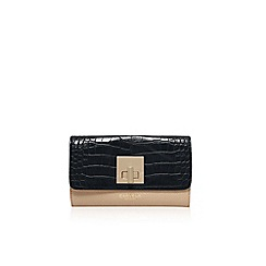 Carvela - Black/ beige 'Fis' lock purse