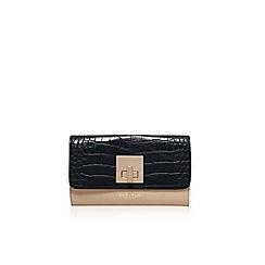 Carvela - Black/ beige 'Fis' lock purse