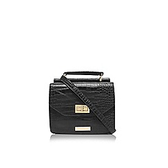 Carvela - Black 'Frances' lock croc clutch bag