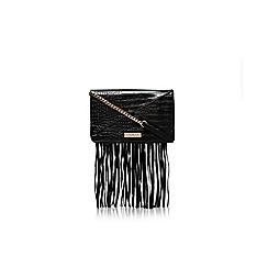 Carvela - Black 'Fres' fringed clutch bag