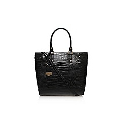 Carvela - Black 'Arlette croc tote bag' large handbag