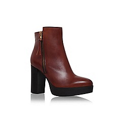 Carvela - Tan 'supremo' high block heel ankle boot