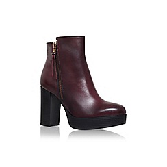Carvela - Red 'Supermo' high heel ankle boot