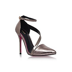Carvela - Pewter 'Autumn' high heel strap detail court shoe