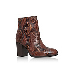 Carvela - Tan 'sherbert' high block heel print ankle boot